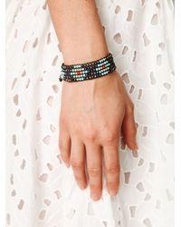 Free People - Blue Narrow Beaded Friendship Bracelet - Lyst