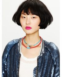 Free People - Blue Tribal Rope Layering Necklace - Lyst