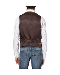 J.Crew - Brown Harvest Herringbone Vest for Men - Lyst
