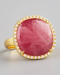 Marco Bicego | Metallic Jaipur Red Sapphire and Diamond Ring | Lyst