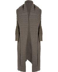 Rick Owens - Natural Ribbed Alpaca-blend Cardi-coat - Lyst