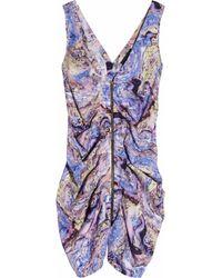 Seventh Wonderland | Multicolor Rever Marbled-print Silk Dress | Lyst