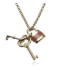 Chloé - Metallic Padlock Necklace - Lyst