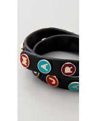 Marc By Marc Jacobs | Black Dreamy Logo Double Wrap Bracelet | Lyst