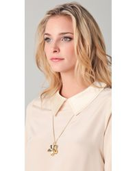 Marc By Marc Jacobs - Metallic Flower Chain Long Pendant Necklace - Lyst