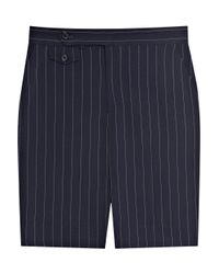 Ralph Lauren Black Label | Blue Calise Pinstripe Wool-crepe Pants | Lyst