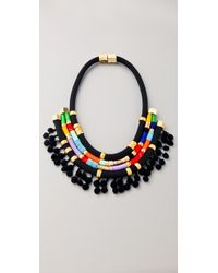 Holst + Lee | Multicolor Chain Plate Necklace | Lyst