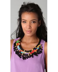 Holst + Lee - Multicolor Chain Plate Necklace - Lyst