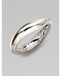 John Hardy | Metallic Sterling Silver Wavy Bangle Bracelet | Lyst