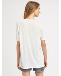 T By Alexander Wang | White Pocket Tee | Lyst