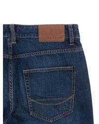 Ted Baker | Blue Bogan Usedlook Jeans Light Wash for Men | Lyst