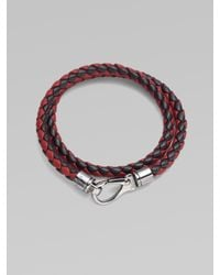 Tod's | Red Leather Bracciale for Men | Lyst