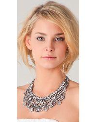 Tom Binns - White Madame Dumont Short Bib Necklace - Lyst