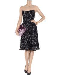 Dolce & Gabbana | Black Star-print Strapless Dress | Lyst