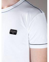 Dolce & Gabbana   White Classic Polo for Men   Lyst