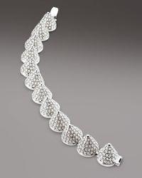 Eddie Borgo | Metallic Cone Bracelet White | Lyst