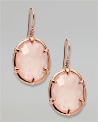 Ippolita | Metallic Rose Quartz Drop Earrings | Lyst