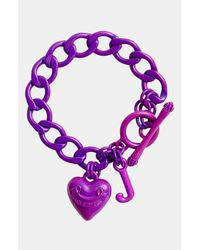 Juicy Couture | Purple Pavé Starter Charm Bracelet | Lyst