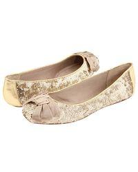 kate spade new york | Metallic Flash - Gold Sequin Ballet Flat | Lyst