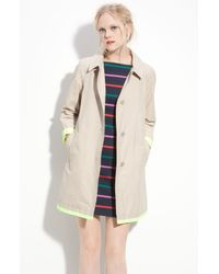Marc By Marc Jacobs   Brown Brice Neon Trim Coat   Lyst