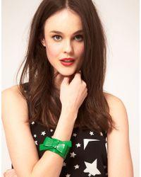 Sonia by Sonia Rykiel | Green Bow Cuff | Lyst