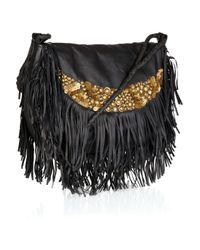 Antik Batik | Woven Embellished Satchel With Leather - Black | Lyst
