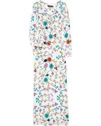 Antik Batik | Blue Hava Djellabah Printed Silk Maxi Kaftan | Lyst