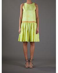 Giambattista Valli - Green Printed Dress - Lyst