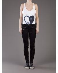 J Brand   Black Zoey Mid-rise Skinny Jeans   Lyst