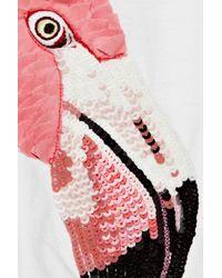 Markus Lupfer | White Flamingo Embellished Cotton T-shirt | Lyst