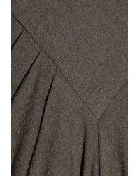 Rick Owens - Green Wool-crepe Maxi Dress - Lyst