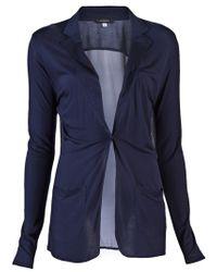 Unconditional | Blue Chiffon Back Jacket | Lyst