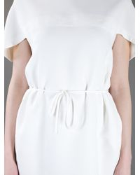 Valentino | White Belted Dress | Lyst