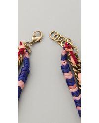 DANNIJO - Blue Roe Necklace - Lyst