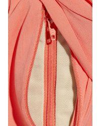 Halston - Pink One-shoulder Stretch-jersey Gown - Lyst