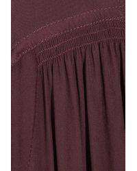 Isabel Marant   Purple Adair Drawstring Chiffon Blouse   Lyst