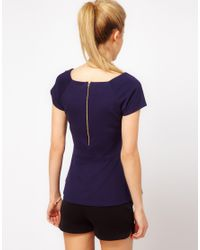 ASOS Collection | Blue Asos Top with 40s Peplum | Lyst