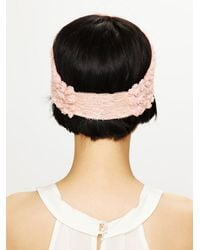 Free People | Pink Tatty Floral Gauze Headwrap | Lyst