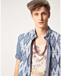 ASOS - Brown Wooden and Metal Rosary Beads for Men - Lyst