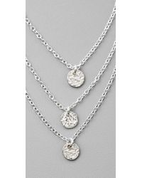 Gorjana - Metallic Three Disc Necklace - Lyst