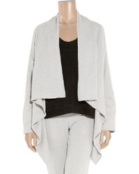 Lounge Lover - Gray Winter Chill Cotton-blend Fleece Cardigan - Lyst