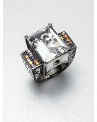 M.c.l  Matthew Campbell Laurenza - Metallic Multicolored Sapphire Accented White Topaz Ring - Lyst