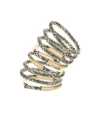 TOPSHOP - Metallic Smooth Bar and Mesh Bracelet Pack - Lyst