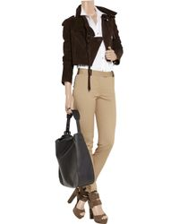 Alexander Wang | Brown Stirrup Pant with Leather Detail | Lyst