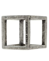 Cheap Monday | Black Cube Ring  for Men | Lyst