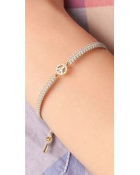 Tai - Metallic Mini Peace Charm Bracelet - Lyst