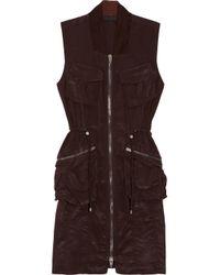 Alexander Wang | Purple Zipfront Cargo Dress | Lyst