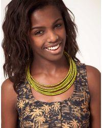 ASOS - Metallic Silk Wrap Necklace - Lyst