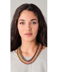 CC SKYE - Multicolor Neon Multi Chain Necklace - Lyst
