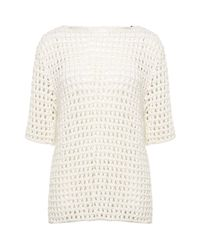 Chloé | White Open Knit Jumper | Lyst